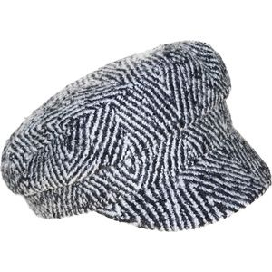 NINE WEST Thick Herringbone Wide Brim Newsboy Hat
